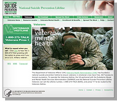 Suicide Prevention Lifeline website